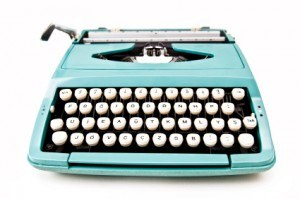 teal typewriter