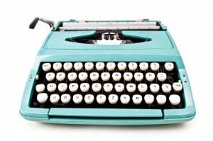 teal typewriter